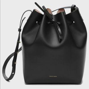 Mansur Gabriel Bucket Bag Black & Gold